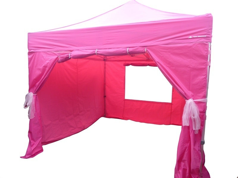 pink gazebo for hire