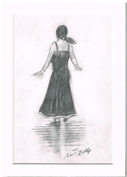 """Shirley"" - Original Pencil Sketch, Mounted and Backed Ready for Framing"