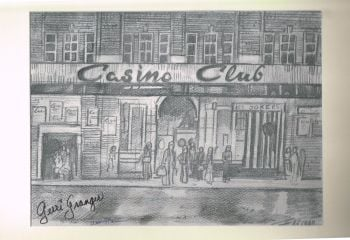 """Casino Club"" - Original Pencil Sketch, signed by Gerri Granger and William Mickey Stevenson"