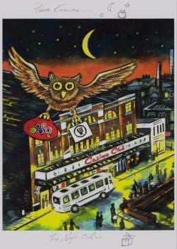 """Night Owl"" - Limited Edition Print, with Artist's Individual ""Remarque"" 50 Copies Commissioned"
