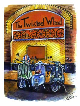 """""""Scooters at The Wheel"""" - Signed Limited Edition Print, 250 copies commissioned"""