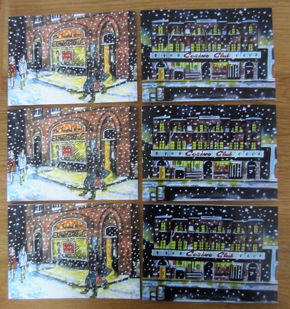 Three Wheel and Three Casino Christmas Cards