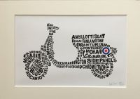 """""""Vespa Scooter"""" - Signed Limited Edition Print, Cream Mounted and Backed ready for framing"""