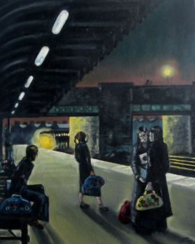 """Come On Train"" - Original Oil Painting on Canvas"