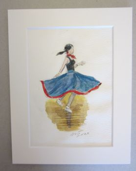 """Gaynor"" - Original Water Colour Painting, Mounted and Backed Ready for Framing"