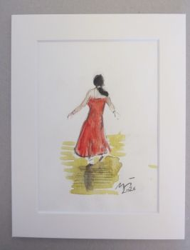 """Northern Soul Interpretations, I"" - Original Water Colour Painting, Mounted and Backed Ready for Framing"
