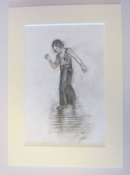 """Sole Soul Dancer"" - Original Pencil Sketch, Mounted and Backed Ready for Framing"