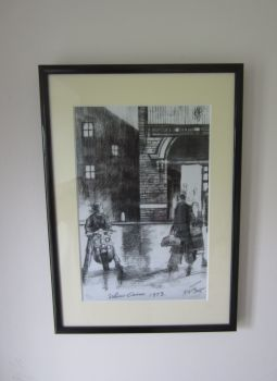 """Lambretta Outside Wigan Casino"" - A4 size, Mounted and Framed"