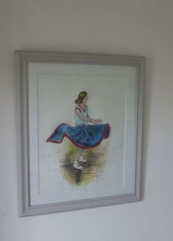 """""""Northern Soul Interpretations, III"""" - Original Water Colour Painting, Mounted and Framed"""