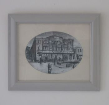 """Casino Club, Prep 1"" - Original Pencil Sketch, Mounted and Backed Ready for Framing"