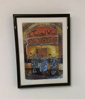 """Scooters at the Wheel"" - Mounted and Framed"