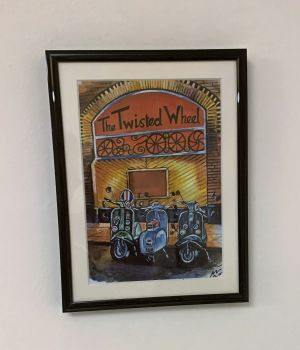 """""""Scooters at the Wheel"""" - Mounted and Framed"""