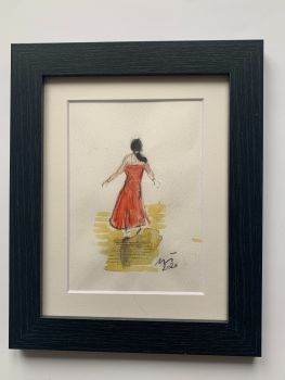 """""""Northern Soul Interpretations, I"""" - Original Water Colour Painting, Mounted and Framed"""
