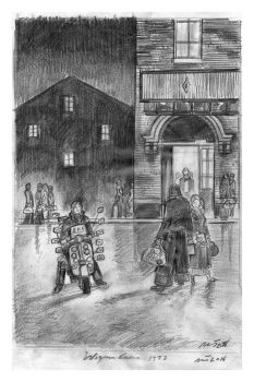"""""""SKF Scooter Outside Wigan Casino"""" - Signed Limited Edition Print, 250 copies commissioned"""