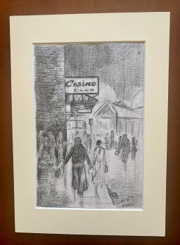 """""""Anticipation, Prep Pencil Sketch"""" - Original pencil sketch, mounted and backed - fits directly into an A4 frame."""
