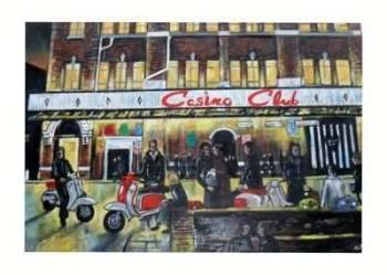 """""""Scooters at the Casino"""" - Signed Limited Edition Print, 100 copies commissioned"""