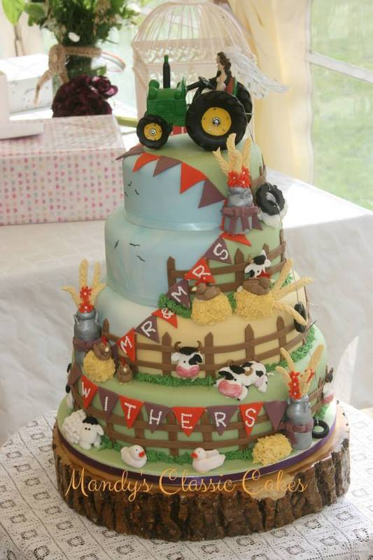 Farm Wedding Cake