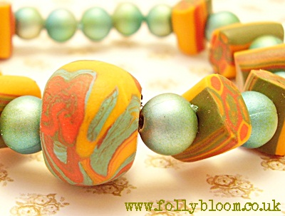 Folly Bloom handmade bead bracelet