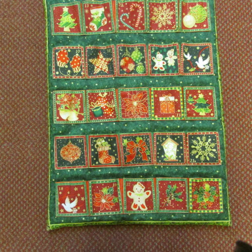 100% Cotton Advent Calendar panel to make Traditional Design