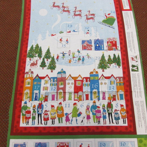 100% Cotton Advent Calendar  panel to make Woodland Design