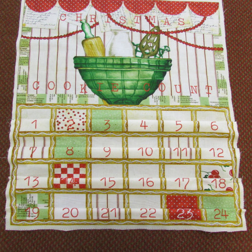 100% Cotton Advent Calendar panel to make Cookie Jar Design