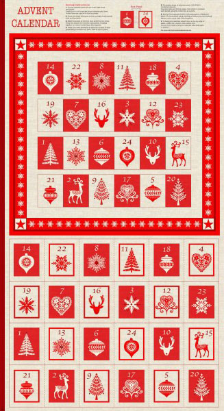 Scandi Advent Calendar panel to make