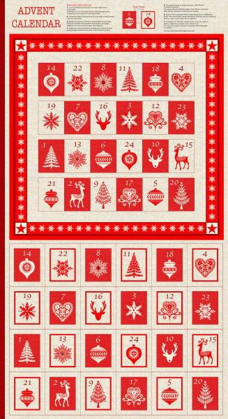Scandi Advent Calendar panel to make