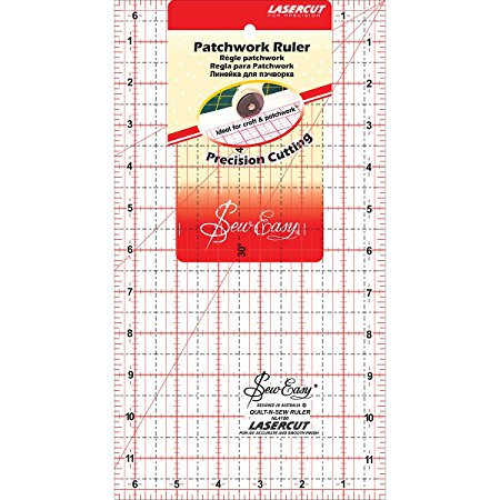 Patchwork Ruler 12 x 6.5 inches