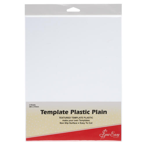 Template Plastic Plain 2 sheets 280 x 215 mm