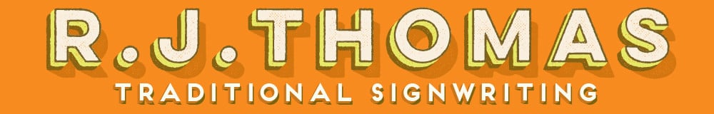 rjthomas-signwriting, site logo.