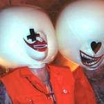 Inflatable hoods for the 'Psycho Clowns'