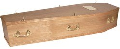 oak veneered coffin