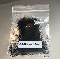 C Curl Black Eyelash Extensions - Bag 1g