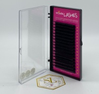 <!-- 0002 -->B Curl Black Eyelash Extensions - Trays