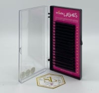 B Curl Black Eyelash Extensions - Trays