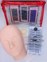 Lash Eyelash Extension Practice Kit Mannequin Training Lashes SL