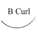 B Curl Black Eyelash Extensions - Bag 1g