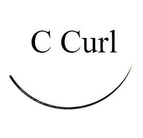 C curl black eyelash extensions - Bag 1g