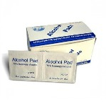 Alcohol Anti-Bacterial Pads x 100