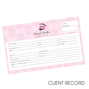 Client Record Cards 50 (Qty)