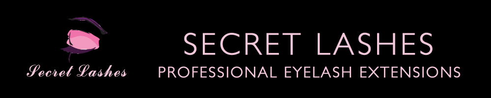 Secret Lashes Eyelash Extensions, site logo.