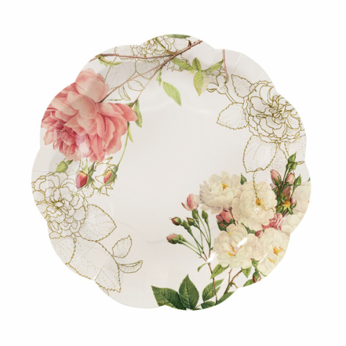 Blossom and Brogues Paper Tea Plates