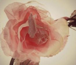 Vintage Pink Rose Garland