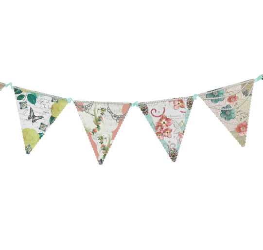 Pastries and Pearls Vintage Bunting