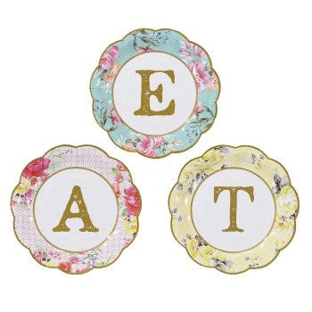 Truly Scrumptious Floral Party Plates - Small EAT