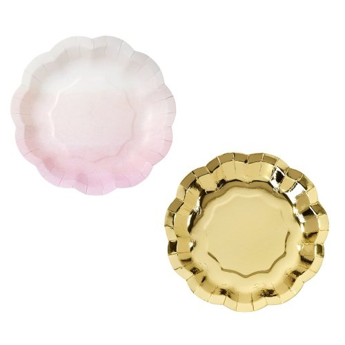 Pink and Gold Paper Plates - We Heart Pink Range