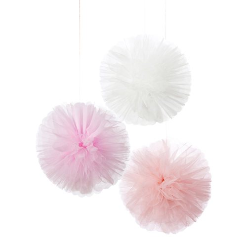 Pink Tulle Pom Poms from Talking Tables