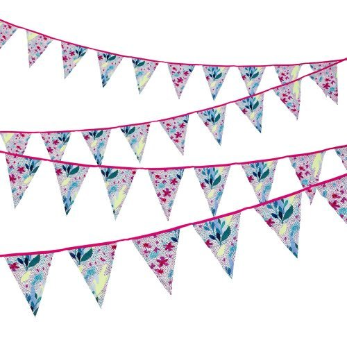Fluorescent Floral Oversize Fabric Bunting