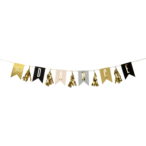 Just Dance Glitter Party Garland