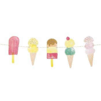 We Heart  Ice Cream Party Garland
